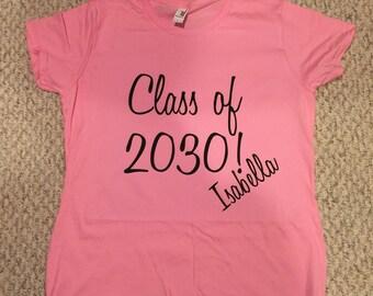Class of shirt, preschool gift, kindergarten gift, toddler shirt, tshirt, back to school