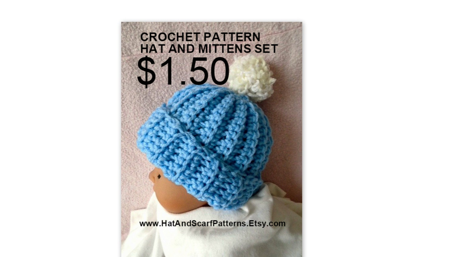 Crochet pattern baby hat and mittens set newborn to 1 yr zoom bankloansurffo Images