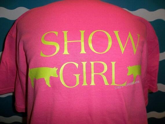 Livestock show shirt - pig shower t-shirt - custom show girl t-shirt - Personalized hog shower t-shirt - pig shirt - hog shirt - custom tee