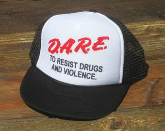 Vintage D.A.R.E. To Resist Drugs and Violence Mesh Snapback Hat