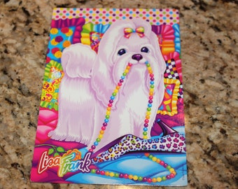 Vintage Lisa Frank Princess Pearls Postcard
