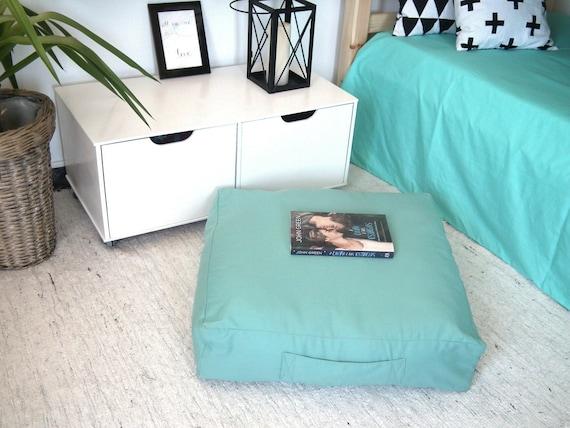 Floor Cushions For Nursery : Items similar to Large Mint Square Floor Cushion Ottoman Pouf- Kids Furniture Bean Bag Chair ...