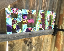 Customizable Letter Sign. Reading Nook Decor. Play Room Decor. Playroom Decor. Amy Butler fabric covered letters. Other Fabrics Available.