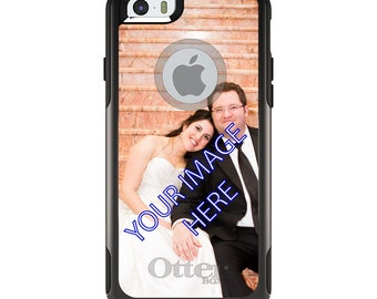 OtterBox Commuter for Apple iPhone 5S SE 5C 6 6S 7 8 PLUS X 10 - Custom Monogram & Image - Your Design or Photo Picture Photograph
