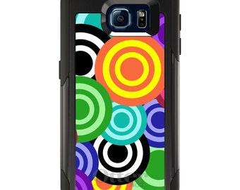 OtterBox Commuter for Galaxy S4 / S5 / S6 / S7 / S8 / S8+ / Note 4 / 5 - CUSTOM Monogram - Any Colors - Multi Color Swirls