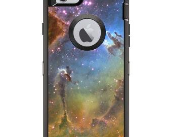 CUSTOM OtterBox Defender Case for Apple iPhone 6 / 6S / 7 / PLUS - Personalized Monogram - Eagle Nebula Orange Blue