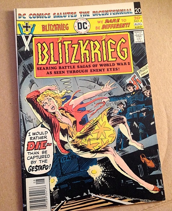 Rare Blitzkrieg War Comic 1976 Dc Comics Wwii Battle