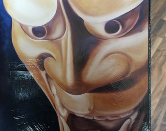 Hannya Mask oil on canvas by Brent Jannash &MelissaZimmer