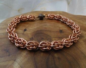 Copper Sweet Pea Bracelet