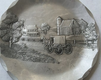 Wendell August Forge aluminum coaster or plate