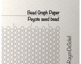 Peyote seed bead graph paper. Peyote template for seed beads. Design pattern A4 sheet. PDF Instant download.