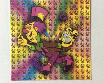 Hallucination Psychedelic Mad Hatter  Blotter Art Print perforated sheet 225 hits Acid Free paper