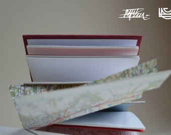 Wales - handmade notebook in red
