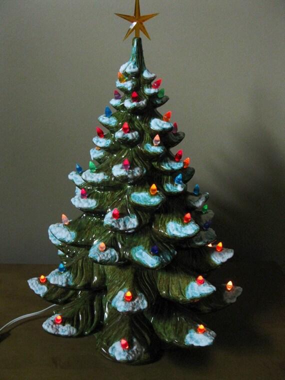 Super Large 23 Ceramic Lighted Christmas Tree