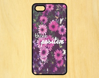 Think Positive Version 2 Art iPhone 4/4S 5/5C 6/6+ and Samsung Galaxy S3/S4/S5 Phone Case