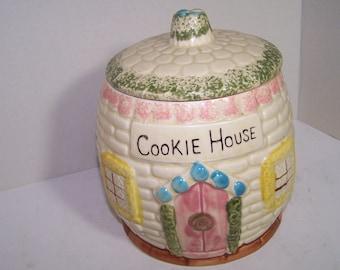 Vintage Cookie House Cookie Jar