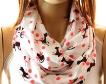 Cats Printed So Soft Cotton Infinity scarf. Loop scarf. Circle scarf. Women Scarf. Gift. Cat. Cats Scarf. Scarves, Summer scarf, Scarves