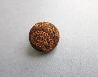 Chocolate Brown Lapel Button - Men's Lapel Pin - Buttonhole - Suit Pin - Anniversary Gift