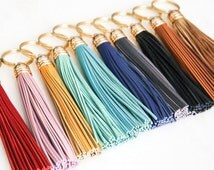 COMMISSIONED leather tassel keychain. sweet sixteen. first car. new car. sweet 16. mint leather keychain. brown leather keychain. matthew 28