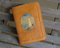 """Refillable Leather Journal Cover """"Lighthouse"""""""