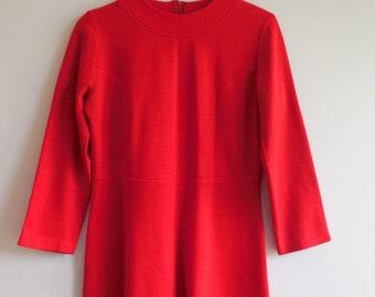 Vintage 60s Red Scooter Dress