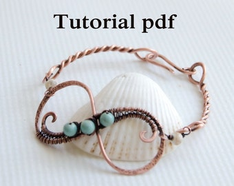 Tutorial Infinity bangle, simple jewelry lesson for beginners, how to make wire wrap bangle