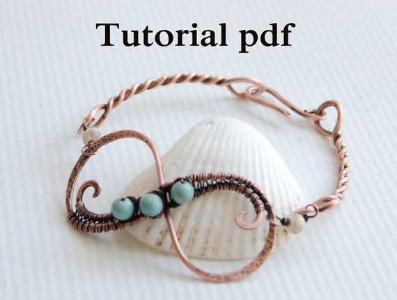 Tutorial Infinity bangle, simple jewelry lesson for beginners, how ...