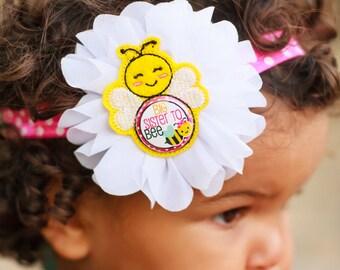 Big Sister Headband, Big Sister to Be, Pregnancy Reveal Headband, Bumble Bee Headband, Pregnancy Announcement, Big Sister to Bee, Polka Dots