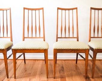 mid century chairs, modern dining chairs, Danish modern chairs, mid-century Keller Danish modern style dining chairs, set of 4