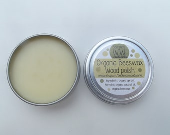 2-Ounce Organic Beeswax Wood Polish Non-Toxic & All-Natural for Wooden Baby toys
