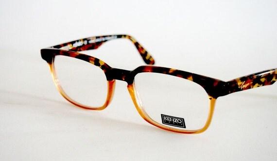 Vintage Eye glasses frames Kenzo Amiral K 082 square Nerd