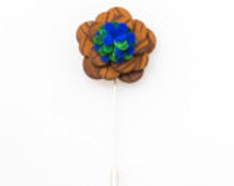 Wood Lapel Flower