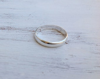Sterling silver ring, gift for men, man ring, wedding band ring, ring for men, round plain ring, silver ring, band ring