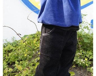 black Baggy Pants Corduroy