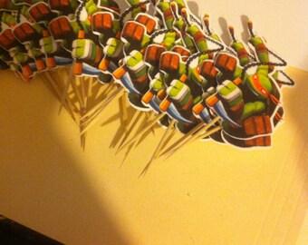 ninja turtle cupcake picks