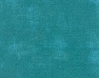 Moda Basic Grey Grunge Ocean Teal Aqua Blue 30150-228 Fabric BTY 1 yd