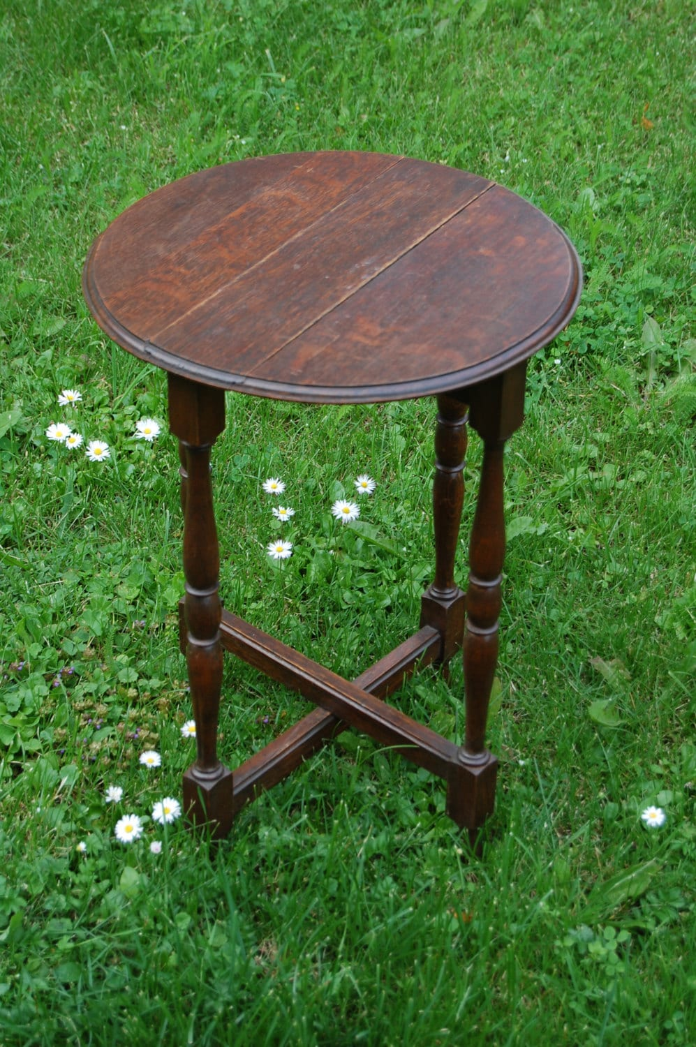 Antique Gate Leg Table Folding Table Table With By Tallinnvintage