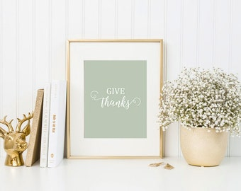 give thanks 8x10 art print instant download