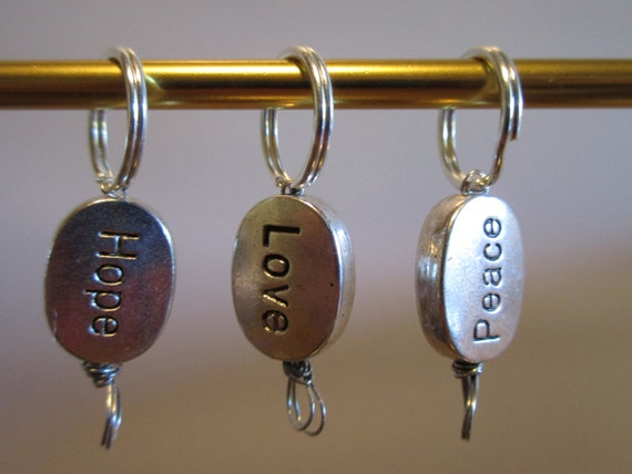 Set of 3 Stitch Markers for Knit