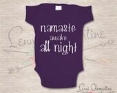 Namaste Bodysuit - Namaste Clothing - Namaste Baby Clothes - Yoga Baby Clothes - Yoga Bodysuit - Custom Baby Bodysuit - Custom Baby Clothing