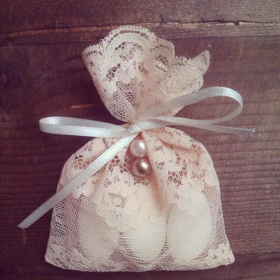 Wedding Favor Gift Ideas: Items Similar To Lace Gift Bags, Party Favors, Wedding