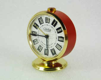 WORKING !!!  Vintage Russian Mechanical Alarm Clock Slava from Soviet Union Period  CCCP