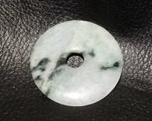 Jadeite Pi Disk Circa 1900 Spinach Jade