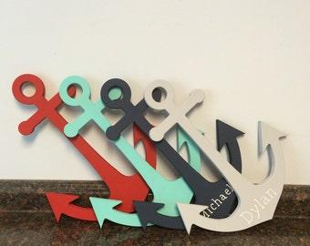 Wooden Anchor Wall Decor wooden anchor cutout | etsy