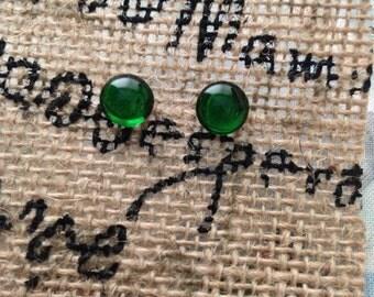 Vintage German Glass Earrings