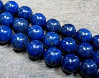 Lapis Beads 12 mm, 7 inch strand - Item B0483