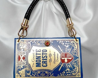 The Count of Monte Cristo Book Handbag - Book Purse Clutch - Pirate Book Handbag - Classic Literature Book Handbag