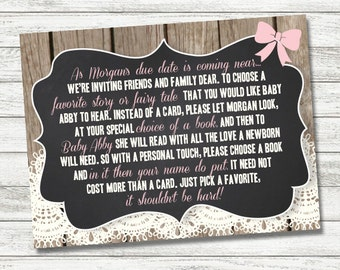 Baby Shower - Bring a Book Card