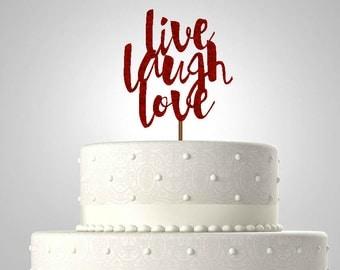 Cake Topper For Champagne Gold Charcoal Wedding