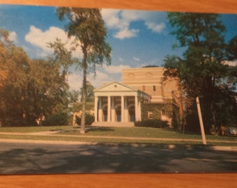 Vintage adams memorial theatre on williams college campus williamstown massachusetts Postcard Free Shipping